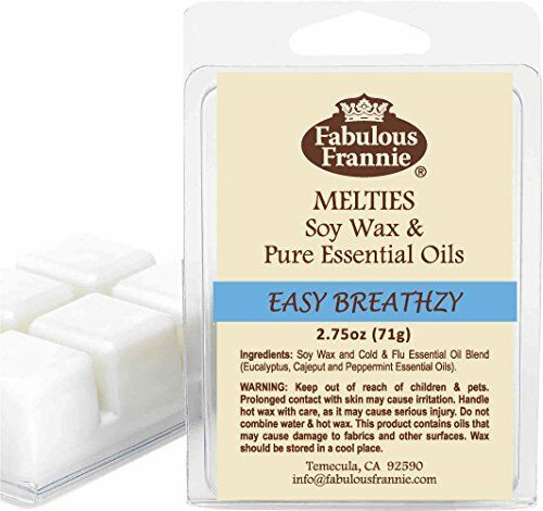 EASY BREATHZY 2.75oz Pure /& Natural Soy Candle Meltie//Tart Fabulous Frannie
