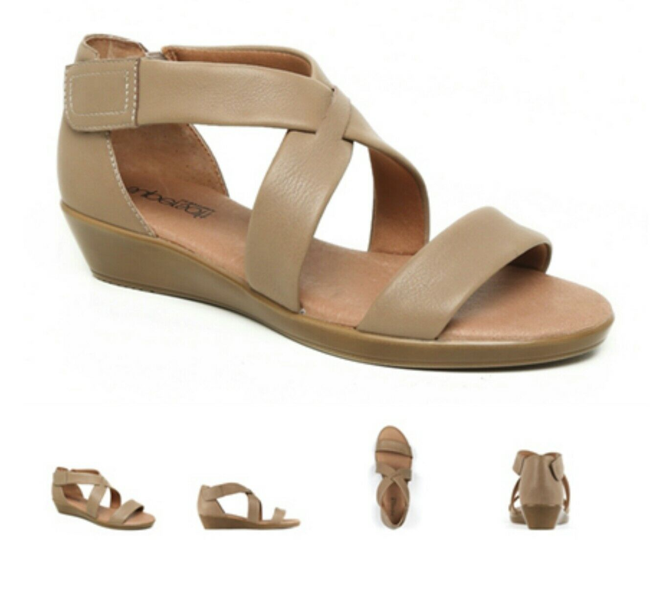 SUPERSOFT BY DIANA FERRARI VANDA  WOMENS SHOES CASUAL SANDALS SZ 7  taupe
