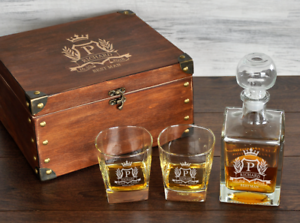 Image Is Loading Best Man Gift Personalized Whiskey Decanter Set Birthday