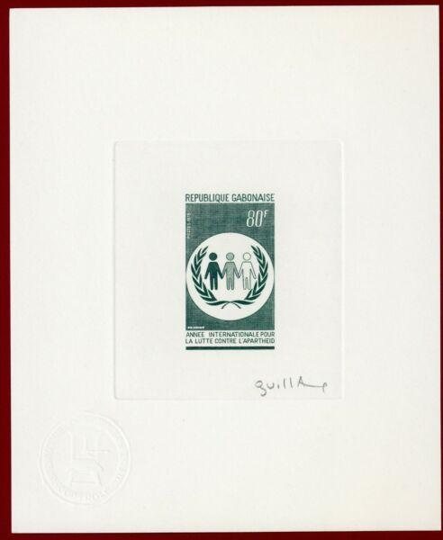 Gabon 1978 #408, Artiste Signée Die Proof, Anti-apartheid, Human Rights-, Human Rights Remises Vente