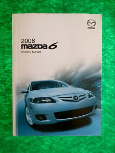 Lovely Image Is Loading 2006 06 Mazda 6 Owners Manual Near New