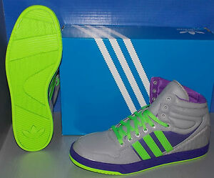 MENS ADIDAS COURT ATTITUDE in colors ALUMINUM / GREEN / PURPLE SIZE 10