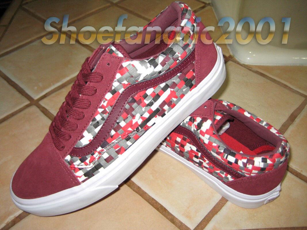Vans Sample Old Skool 9 Woven Textile Multicolor Pewter Supreme Checkered