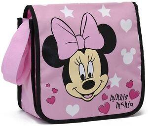 Disney-Minnie-Mouse-Maus-Schultertasche-Umhaengetasche-Rosa-Sporttasche-Neu