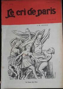 Rivista Il Cree Di Parigi N° 695 La Danza Delle Funzionari Eletti 1910 ABE