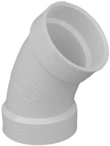 "3/"" Genova Products 70630 45 Degree PVC Elbow"
