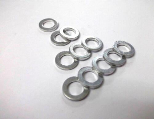 Unanodised. 5 x M10 x 16mm x 1mm Aluminium sealing washers Light weight Flat