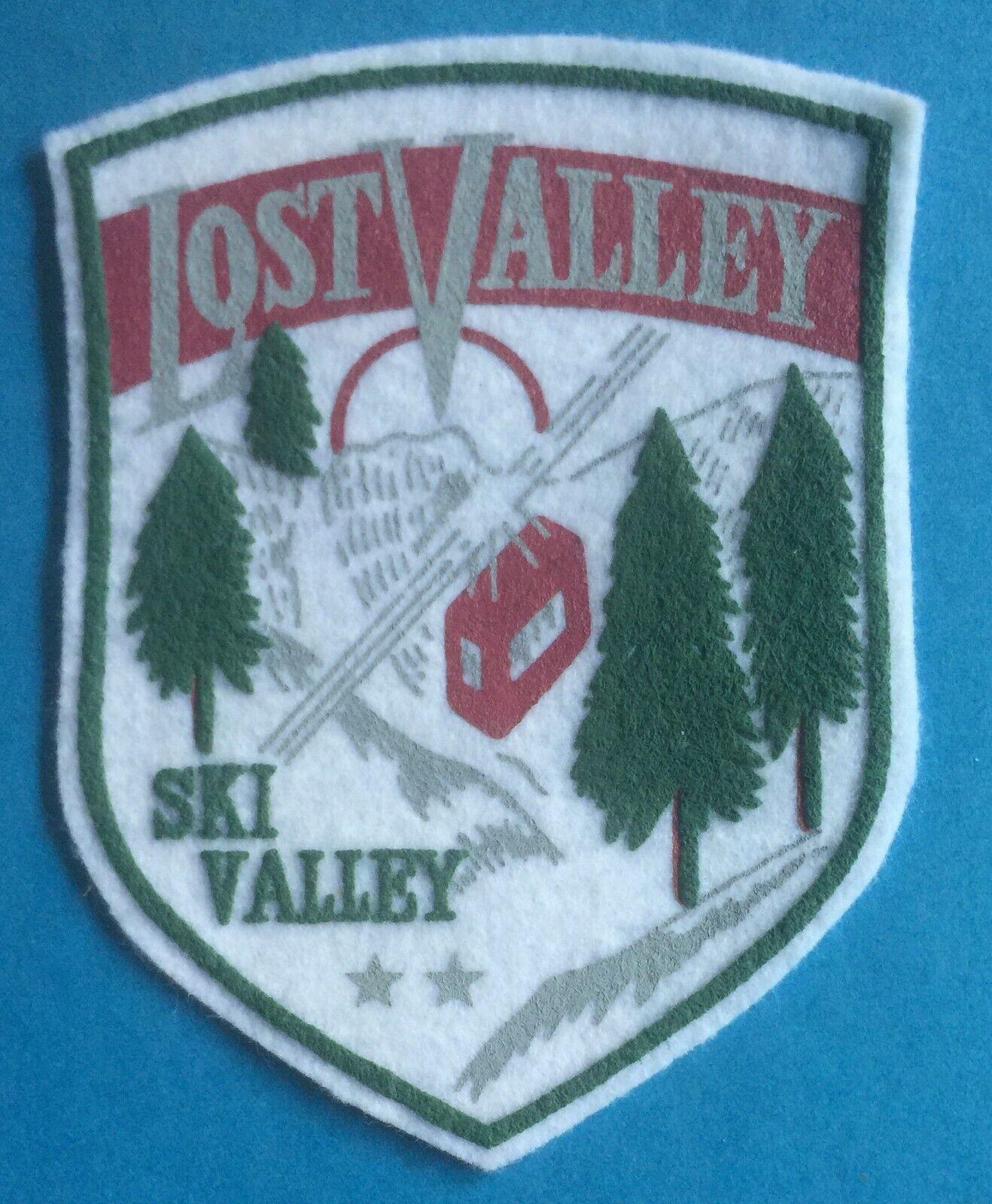 Zeldzame Vintage 1960's Lost Valley Skigebied Hat Hipster Jasje Capuchon Patch 038T