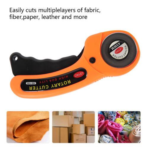 Rollschneider Stoffschneider Rund Messer für Leder Papier Stoff Folie Pappe 45mm