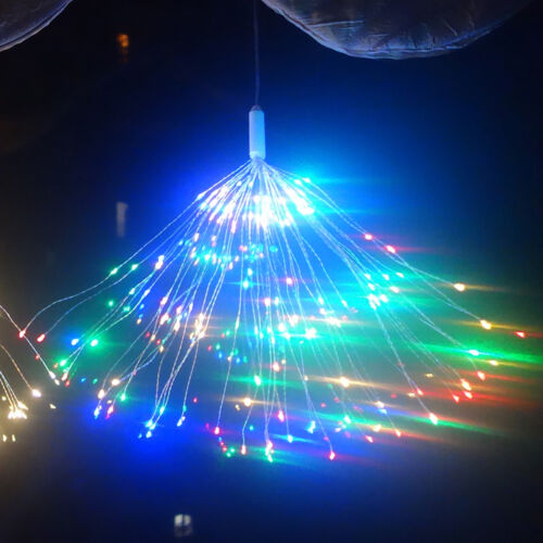 Firework LED Copper Fairy Wire String Lights Remote Control Christmas Decor Xmas