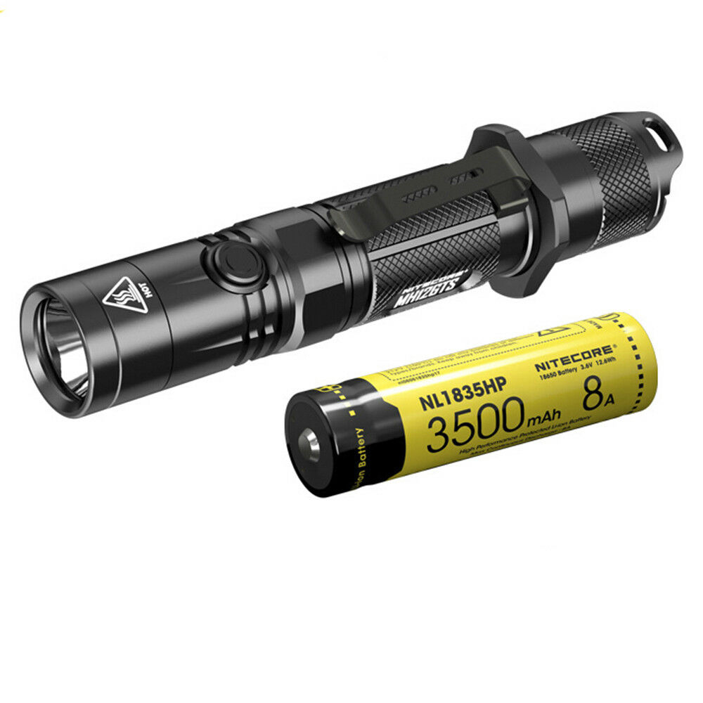 Nitecore MH12GTS 1800 Lumens Cree XHP35 XHP35 Cree HD LED Flashlight with NL1835HP Battery 2110d5