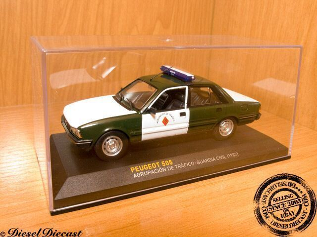 PEUGEOT 505 TRAFICO-GUARDIA CIVIL 1 43 SPAIN POLICE '82