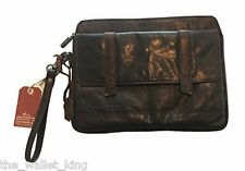 Spikes & Sparrow iPad 2/Tablet Buffalo Leather Carrying Case, strap - Dark Brown