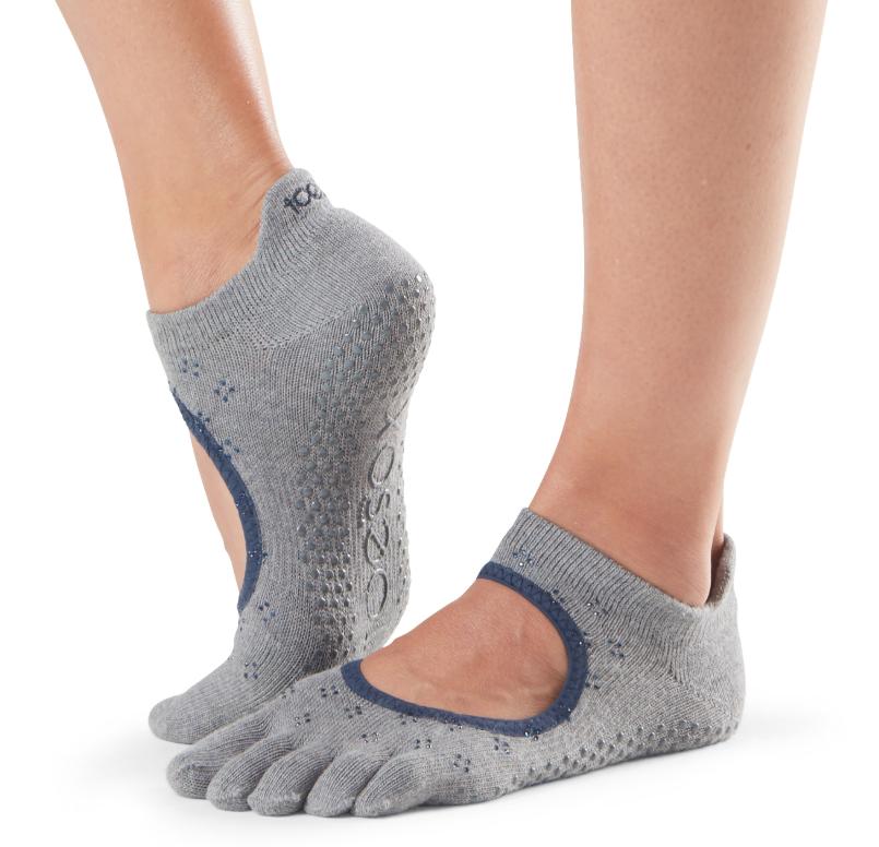 ToeSox Bellarina Full Toe Grip Sole Socks Women's SMALL Brilliant yoga pilates
