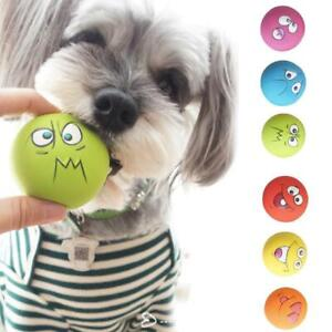 1X-set-Squeaky-Toy-Puppy-Dog-Latex-Natural-Face-Ball-Fetch-Chew-Toy-Bright-2019