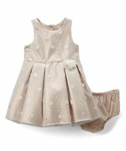 BABY-STARTERS-NWT-GIRL-4-Toddler-GORGEOUS-Pastel-Dot-Sleeveless-Dress-amp-Pantie-4