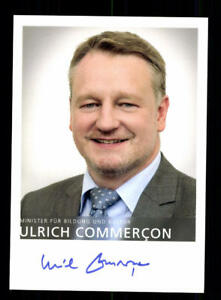 Politik, Adel & Militär Politik 2019 Mode Ulrich Commercon Autogrammkarte Original Signiert ## Bc 119564 Moderate Kosten