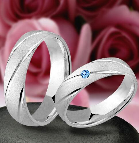 j64-12b compromiso con verdaderas blautopas plata 925 anillo boda alianza de amistad