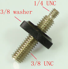 """3/8"""" male to 1/4"""" Male Threaded with big 3/8 female nut fr tripod and camera"""