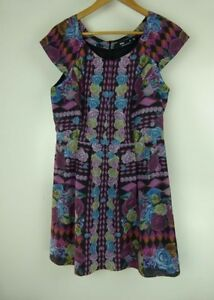 SPORTSGIRL-Sz-10-Pink-Blue-Black-Dress