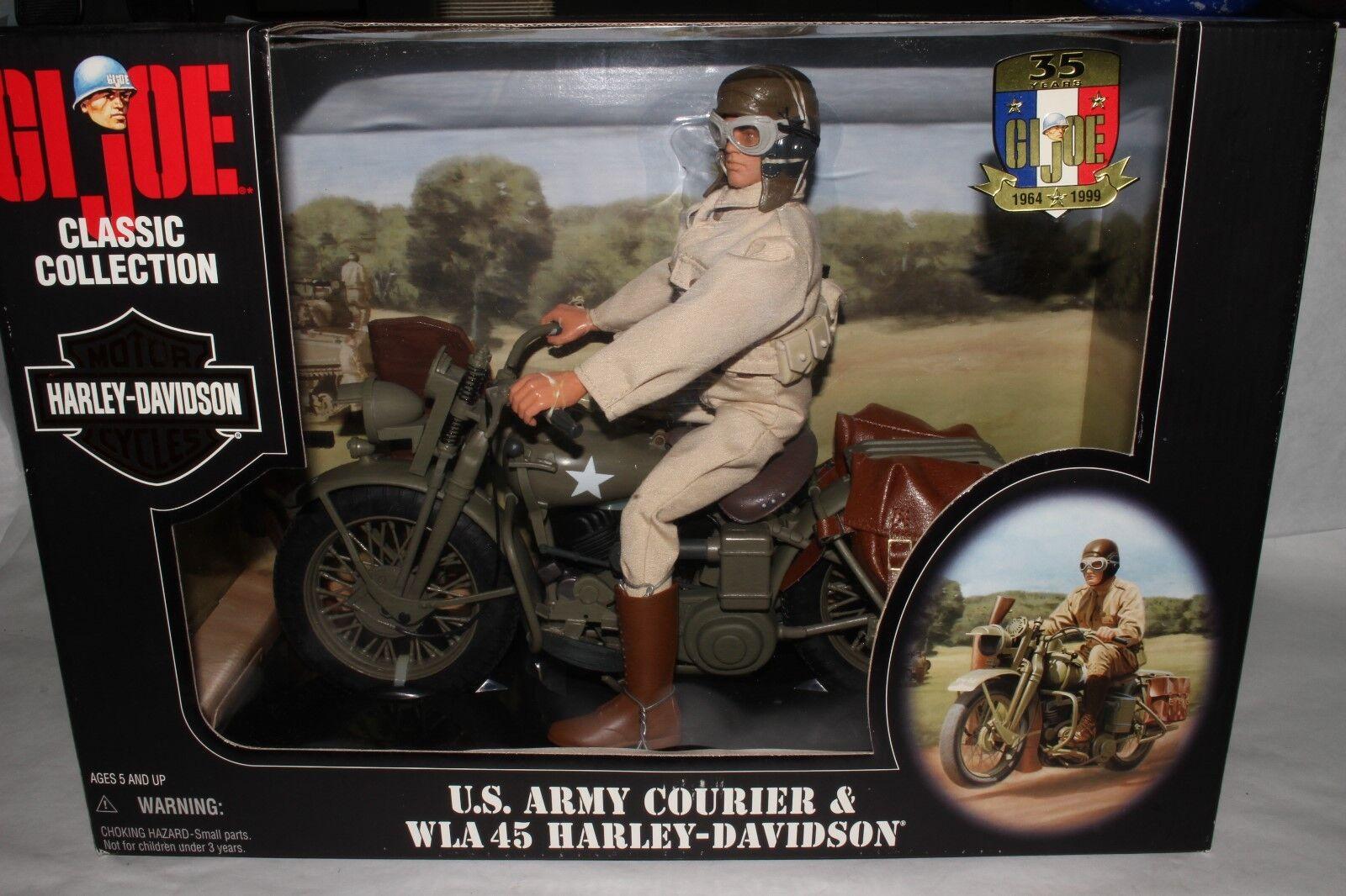 GI Joe U.S. Army Courier & WLA 45 Harley-Davidson Motorcycle Boxed