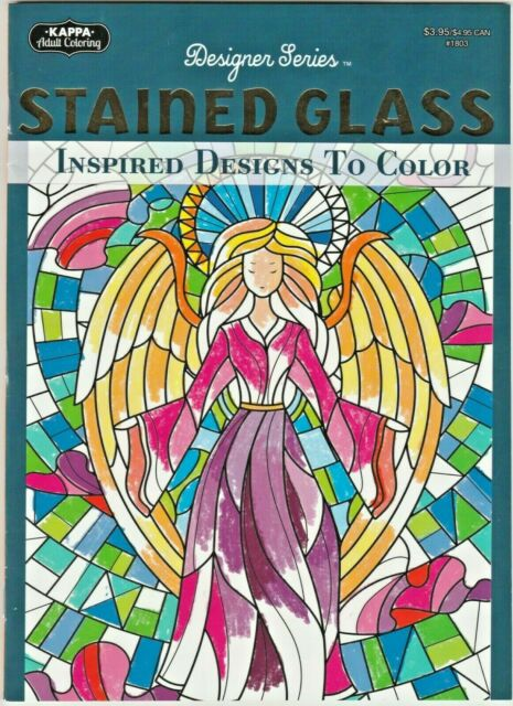Kappa Stained Glass Adult Coloring Book DESIGNER Series 31 Designs For Sale  Online EBay