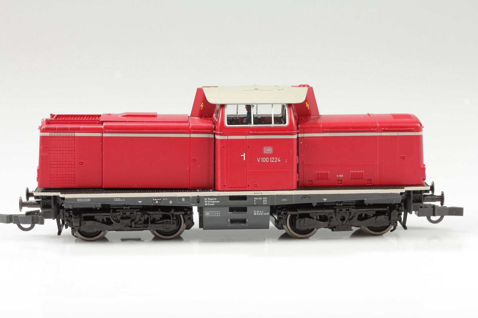 Roco H0 63417 Diesellok DB V100 1224 läuft Licht ok kaum Schmutz Kratzer  OVP  | Ermäßigung