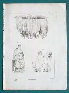 MYTHOLOGY-Gods-Jupiter-Pluvius-Titan-Snake-Legs-Juno-Breastfeeding-1804-Print