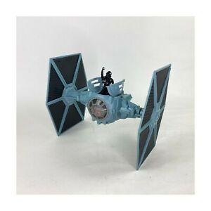 Tonka-1995-Star-Wars-Imperial-Blue-Tie-Fighter-Ship-Wings-Eject-with-4in-Pilot