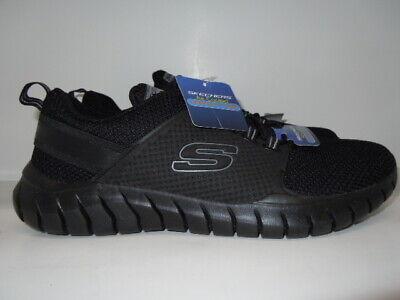 Men/'s Skechers® Overhaul Darosa W//Memory Foam Air-Cooled Char//Orange Shoes Sz