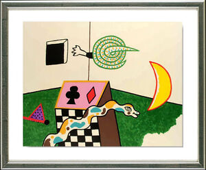 Alan-Davie-geb-1920-ORIGINAL-LITHO-SIGN-Snake-Box-1972