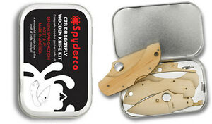 Spyderco Wooden Kit Dragonfly with Tin Perfect for Kids & Collectors WDKIT1 NEW