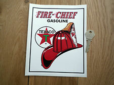 TEXACO FIRE CAPO oblungo adesivo Distributore benzina gas pompa