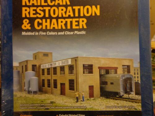 Walthers Cornerstone HO #4024 Railcar Restoration Charter Series -- Shop Buildi