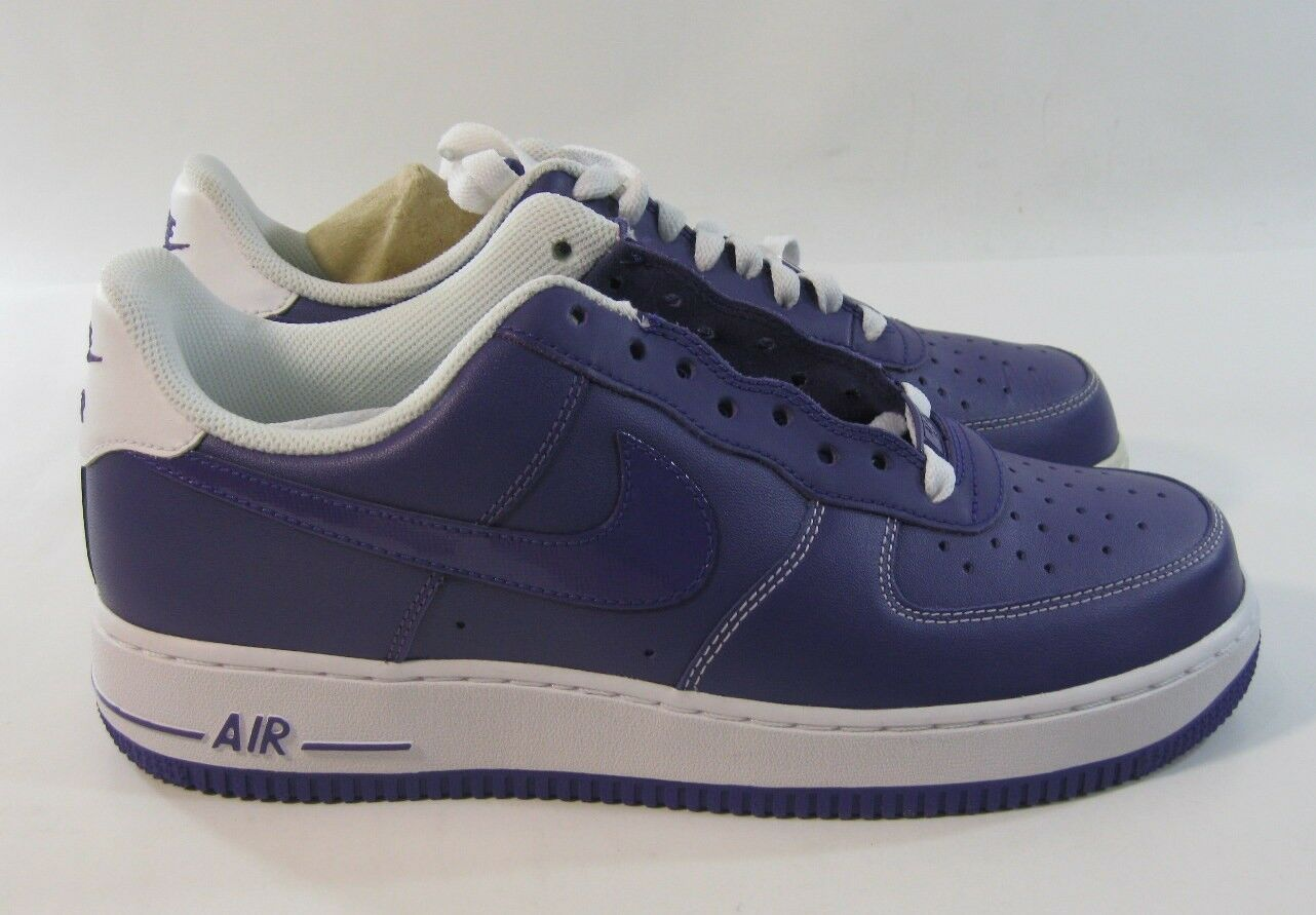 new Nike Mens Air Force 1 Court Purple White Trainer 488298 500 Size 8.5