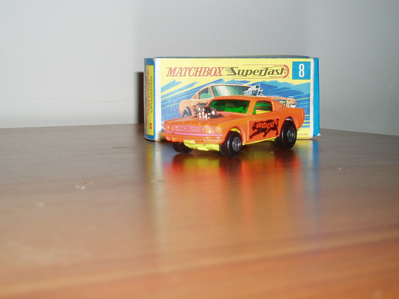 MATCHBOX 8 WILD CAT DRAGSTER NEW MINT IN BOX