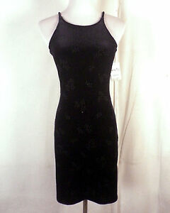 ed61a95cf94 Nwt 90s ALL THAT JAZZ Crushed Velvet Bodycon Dress Vintage