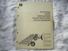 1972 John Deere F930h F931h Hydraulic Wheel Drawbar Carts Parts Catalog Manual