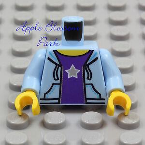 NEW Lego Lite BLUE HOODIE MINIFIG TORSO Girl Boy Purple T Sweat Shirt Pocket Top