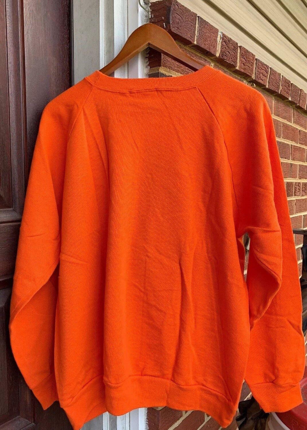 Vintage DENVER BRONCOS NFL Champion Brand 50/50% Cotton/ Poly Sweater. Size XL