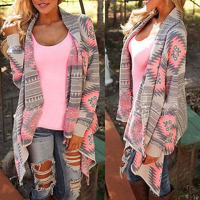 Lady Cardigan Loose Sweater Long Sleeve Knitted Cardigan Outwear Jacket Coat