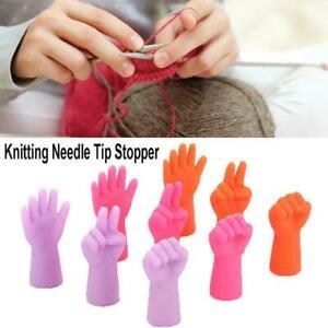 6Pcs-Set-Knitting-Needles-Point-Stopper-Needle-Tip-Sewing-Protectors-Weave-E3B0