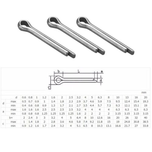 M1 M2 M3 M4 A2 Stainless Steel Split Pins Clevis Cotter Pin Fasteners Parts