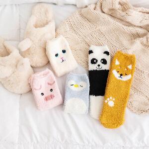 Cartoon-Panda-Pig-Penguin-Women-Socks-Thicken-Warm-Floor-Socks-Sleeping-Socks