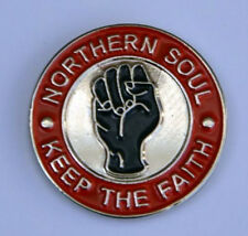 RED KEEP THE FAITH, SOUL, PIN BADGE NEW