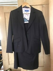 Austin Reed Purple Wool Skirt Two Piece Suit Size 12 Petite Ebay