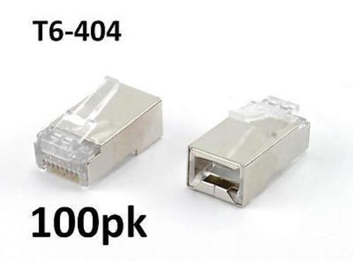 CablesOnline T6-404 100-Pack of Cat6 RJ45 Ethernet Shielded Plugs