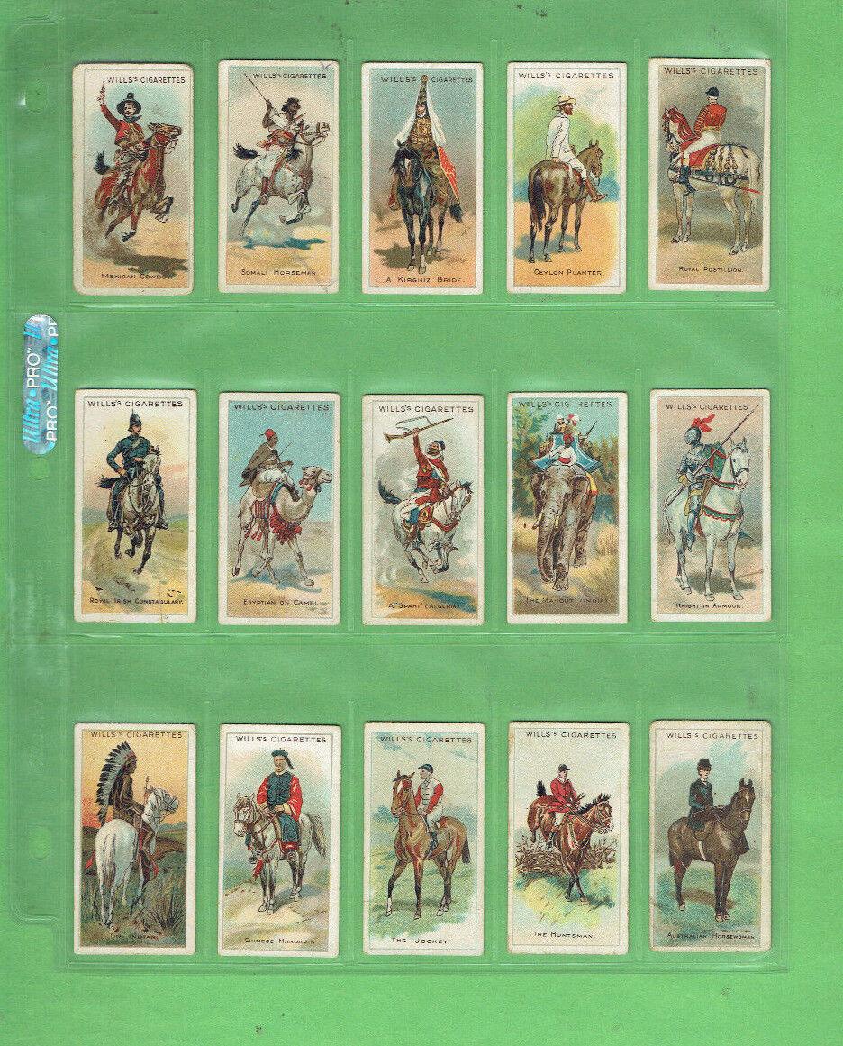 Juego de tarjetas de cigarrillos de  GG1. 1913 de cincuenta (50) - caballo  jinetes del mundo