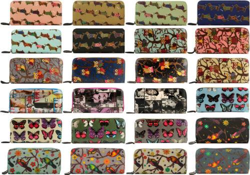 Terron Cotton Multi Variations large Wallet Purse Ladies Women Large Oil Cloth