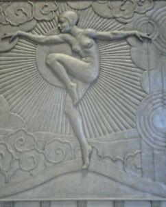 11-034-x-14-034-Dancer-Goddess-Extraordinaire-Art-Deco-Machine-Age-Canvas-Print
